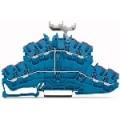4-проводная двухуровневая клемма восьмипроводниковая проходная клемма N. Поперечное сечение – 0,25 - 2,5 mm<sup>2</sup>. Цвет синий