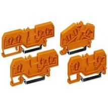 Разделитель той же формы совместимы с трех- и четырехпроводниковыми клеммами углового типа цвет оранжевый