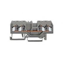 4-проводная проходная клемма 2,5 mm² цвет серый